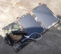 Wholesale NEW Portable Solar Charger For iPhone Mobile Phone W Mono Solar Panel Foldable USB Battery Charger Wallet Bag