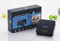 Wholesale XBMC Fully Loaded MX TV Box Android Dual Core G RAM G Amlogic A9 HDMI WiFi DLNA Google Smart Mini PC MX2 GBOX P