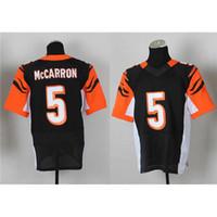 Football Men Short #5 AJ MCCarron Elite Version Black Football Jerseys Cheap Mans Jersey High Quality Embroidered American Football Wears HOT SALE