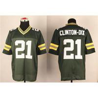 Wholesale Packers Clinton DIX Green Football Jerseys Brand Football Wears New Style Sports Apparel Hot Sale Outdoor Wears for Sale