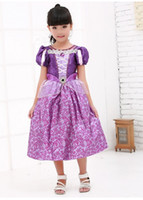 Wholesale 2014 New children sexy costumes lovely girls Hallowmas Christmas Barbie doll Cosplay cartoon Rapunzel princess dress stage wear Halloween