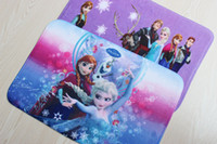 Wholesale Frozen Bath Mats Princess Elsa Anna Velvet Cushion cm PVC Door Non slip Mats in stock