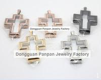 al por mayor pequeña cruz de acero-Medallón flotante de la cruz magnética del acero inoxidable de Panpan 316L (38 * 30) sin cristales (uno más pequeño)