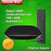 Wholesale Original New MIUI XIAOMI Box HD Internet TV Box Airplay DLNA Miracast Dual Core Wifi BT New Remote Smart TV Set top Box