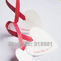 Wholesale Card Twist Tie Doily Heart shaped tie fot cellobags mini card ties