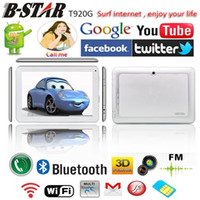 Cheap Free shipping 9 inch B-STAR T920G android MTK6515 2G GSM SIM phone tablet pc capacitive screen dual Cameras WIFI Bluetooth FM