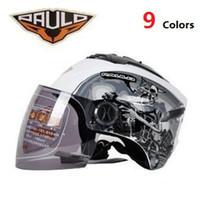 Wholesale New Arrival Half Face Motocycle Helmet CAPACETE Colors Casco Frete Gratis Fret Libre PL002 Motocicleta