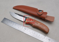 Cheap CJH Rosewood Handle High Carbon Steel Blade 60HRC Handmade Fixed Blade Hunting Knife
