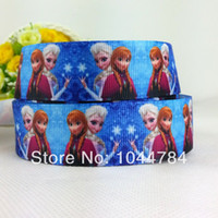Wholesale z mm Cartoon characters series printed grosgrain ribbon clothing accessory frozen ribbon