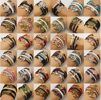 ancient games - Hot mix styles Ancient Bronze Hunger Games ridicule birds bracelet Harry Potter and the multilayer leather bracelet