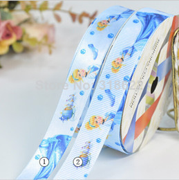 Wholesale quot mm Printed Grosgrain Satin ribbons princess ribbon frozen accessories craft accessories webbing tapes YDS
