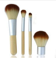 Wholesale Hot Sale Earth Friendly Bamboo Elaborate Makeup Brush