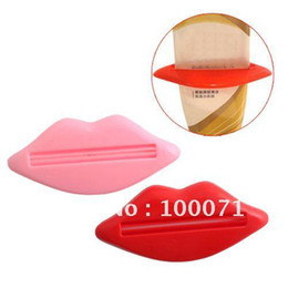 Wholesale 2Pcs Bathroom Lip Kiss Dispenser Toothpaste Squeezer