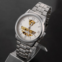 Luxury Men's Not Specified New Skeleton Mechanical Watch GT Stainless Steel Luxury Watches 2colors Discount Casual watches Hot GT01