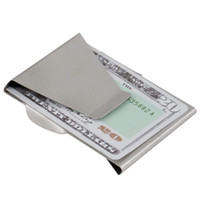 Wholesale Slim Double Sided Cash Credit Card Holder Wallet Stainless Steel FreeShipping Brand New