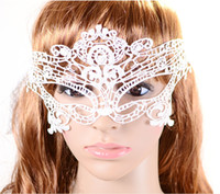 Wholesale 2014New Masquerade mask Sexy mask Black white red Halloween Exquisite Lace Half Face Mask Party Masks For Women