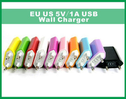 5V 1000mah Color EU US Plug USB Wall Charger AC Power Adapter for iphone4 4S 5 5G