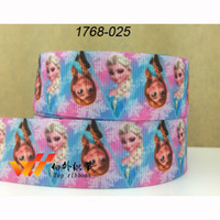 Wholesale mm frozen character printed grosgrain ribbon DIY handmade clothing accessories