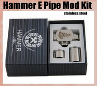 Cheap Hammer Pipe Mod Kit E Cigarette E Pipe Mod Mechanical Hammer Battery Body For 510 Thread Atomizer Electronic Cigarette TZ026
