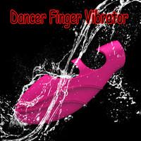 Silicio Bailarina Dedo Vibradores,G-Spot Vibe,Mini Vibrador,de la Estimulación del Clítoris Adulto Juguetes Sexuales Envío Gratis 50pcs/lote