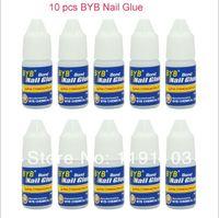 Cheap Wholesale-Promotional discounts Free Shipping 10 Pcs 3g GLUE ACRYLIC UV GEL FALSE Full French NAIL ART TIPS Decoration Tools