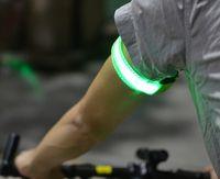 Wholesale led arm belt reflective pants with electronic wrist warning light belt Outdoor Lighting armlet bracelets oem print private logo letters