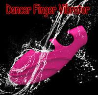 Vibradores Finger Silicio Bailarín, G-Spot Vibe, mini vibradores, Estimulación del Clítoris juguetes adultos del sexo Productos de DHL 200pcs / lot