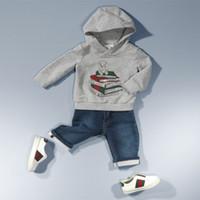 2014 Boys Brand sets 2 pcs set Hoodies + Jeans Children Spri...