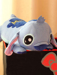 Wholesale Hot sale High quality Lilo Stitch Stitch doll pillow plush toy lovers Large dolls cm H