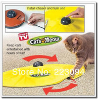 Wholesale High quality CATS MEOW As Seen on T NEW Interactive battery powered Cat Play Toy Mouse Toy