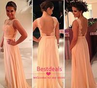 Convertible Bridesmaid Dresses 2014 Sheer Orange Bateau Lace...
