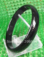 Wholesale Chinese black agate jade bangle bracelet fashion jewelry pc