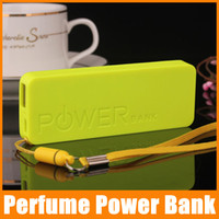 Cheap -thin Portable Perfume Power Bank 5600mah External Backup Battery Charger Emergency Power Pack Universal For Mobile Phones 5pcs lot