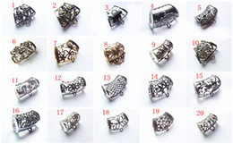 Wholesale 12PCS Hot Fashion DIY Jewellery Scarf Pendant New Style Mental Alloy Hollow Out Charm Slide Holding Tube Bails
