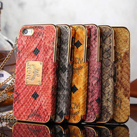 For Apple iPhone metal+plastic Black Tide brand MCM snake style design metal+PC dumper case for iPhone 5 5S mobile phone accessories protector dumper case cover cell phone