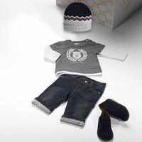 2014 Boys Brand sets 3 pcs set Hoodies + Jeans + Hats Childr...
