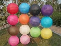 Wholesale Chinese paper lanterns Party lanterns Wedding decorations Handmade diameter plain color round shape wedding supplies hot sale
