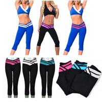 cotton leggings - STRETCH COTTON CAPRI YOGA PANTS LEGGINGS TIGHTS SLIM FIT MULTICOLOR Spots Suits S XL DH04