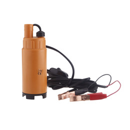Wholesale New V V DC MINI Diesel Fuel Water Oil Diesel Fuel Transfer Pump Submersible Transfer Pump On Off Switch Car Van Plastic K1201