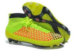 AAA QUALITY Magista Obra FG - Volt/Metallic Gold Coin/Black/Hyper Punch Soccer Cleats High Quality Cheap Soccer Shoes