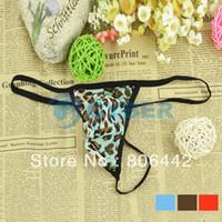 Cheap Retail & Wholesale Sexy Men's G-String Leopard Grain Pouch T Pants Thong Underwear Novelty Briefs 3Colors 14501