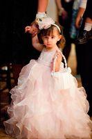 Cheap 2015 New Sweety Pink Princess Little Girl Dresses For Wedding Crew Sleeveless Ruffles Ball Gown Floor Length Flower Girl Dress