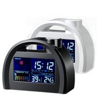 Cheap Creative Digtal LED Alarm Clock Weather Station Forecast Temperature Calendar Digital Clocks #61198