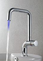 Cheap Led Single Color bathroom basin Kitchen sink mixer tap chrome Faucet