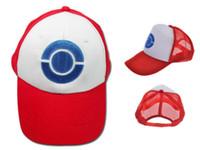 Wholesale HOT POKEMON ASH KETCHUM COSTUME Cosplay Hat Visor Cap DH04