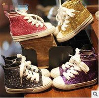 Twinkle Sequin Child Shoes Boys Girls Casual Soft Shoe Cotto...