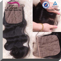 Cheap Cheap Silk Based Brazilian Virgin Hair Closures 4''x4'' Free Style Middle Part 3 Part Body Wave Silk Base Closure Free Shipping