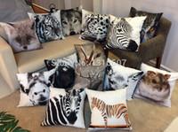 Wholesale KAA046 Printed Animal Cushion Pillowcase Sofa Linen Dog Cushion Cover Cheap Chair Seat Cushions FreeShipping Animal Style