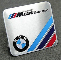 Cheap Metal Auto Car square Badge Emblems Decals Stickers for M Motor sport Racing