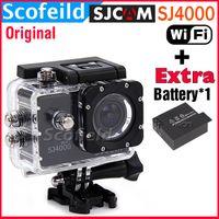 Wholesale Original SJCAM SJ4000 WiFi HD Camera Mini Camcorders Sport Camera for Gopro Waterproof Novatek Inch Degree CAR DVR